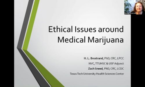 Title screen: Ethical Issues around Medical Marijuana