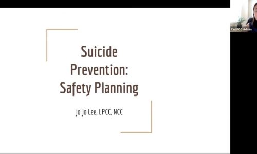 Photo: Suicide Prevention: Safety Planning. JoJo Lee, LPCC, NCC